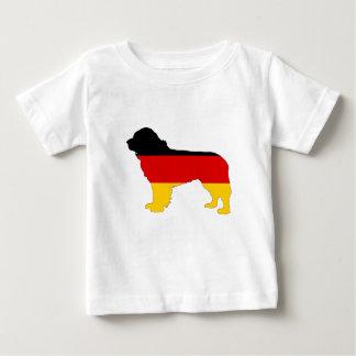 Camiseta De Bebé Bandera alemana - perro de Terranova