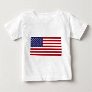 Camiseta De Bebé Bandera americana - barras y estrellas - vieja