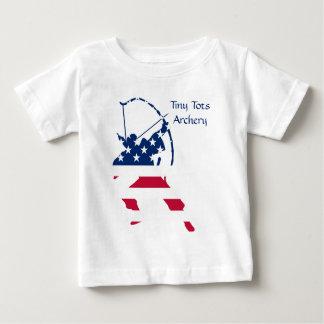 Camiseta De Bebé Bandera americana del archer del tiro al arco de