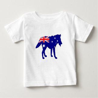 Camiseta De Bebé Bandera australiana - lobo