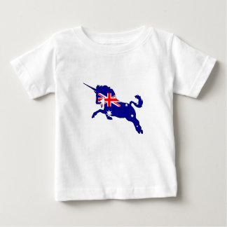 Camiseta De Bebé Bandera australiana - unicornio