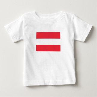 Camiseta De Bebé Bandera austríaca patriótica