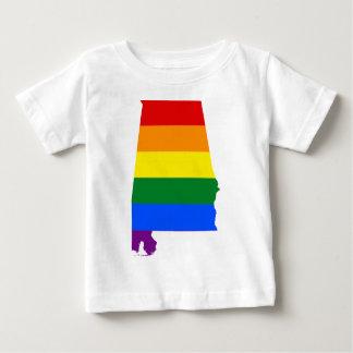 Camiseta De Bebé Bandera de Alabama LGBT