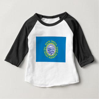 Camiseta De Bebé Bandera de Dakota del Sur