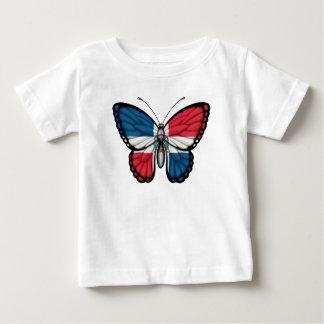 Camiseta De Bebé Bandera de la mariposa de la República Dominicana