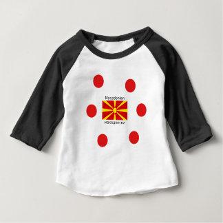 Camiseta De Bebé Bandera de Macedonia y diseño macedónico de la
