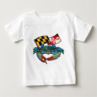Camiseta De Bebé Bandera de Maryland del cangrejo azul