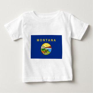 Camiseta De Bebé Bandera de Montana