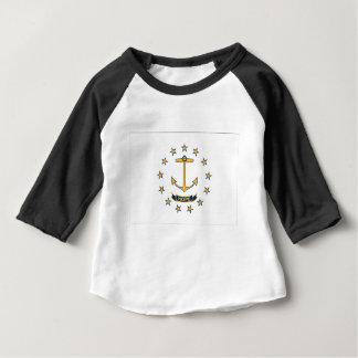 Camiseta De Bebé Bandera de Rhode Island