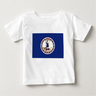 Camiseta De Bebé Bandera de Virginia
