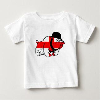 Camiseta De Bebé Bandera inglesa elegante del inglés del dogo