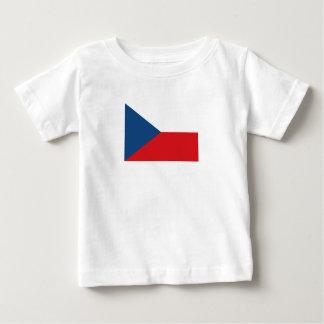 Camiseta De Bebé Bandera patriótica de la República Checa