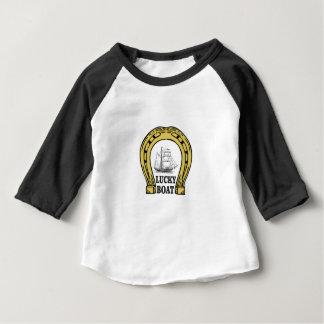 Camiseta De Bebé barco afortunado en el mar