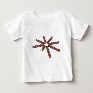 Camiseta De Bebé Barras del chocolate con leche