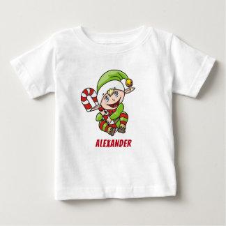 Camiseta De Bebé Bastón de caramelo del duende del navidad del ` s