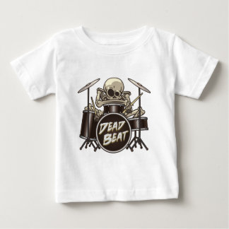 Camiseta De Bebé Batería esquelético divertido