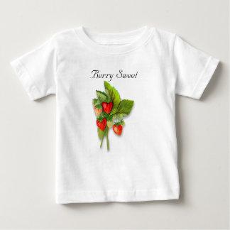 """Camiseta De Bebé """"Baya dulce"""", planta de fresa realista del vintage"""
