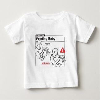 Camiseta De Bebé Bebé de alimentación
