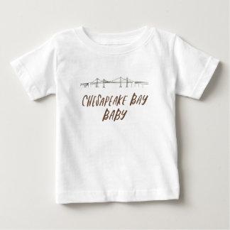 Camiseta De Bebé Bebé de la bahía de Chesapeake/camisa del bebé
