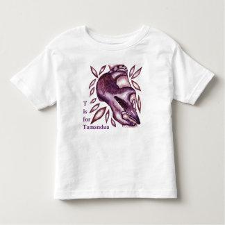 Camiseta De Bebé Bebé de las ilustraciones de Tamandua y la ropa de