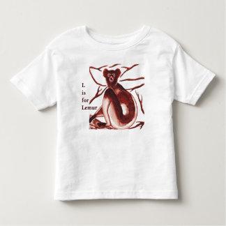 Camiseta De Bebé Bebé de las ilustraciones del Lemur de Indri y la