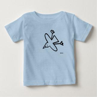 Camiseta De Bebé Bebé del arte: Dibujo de la gaviota el tintóreo de