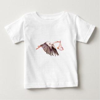 Camiseta De Bebé Bebé en cigüeña