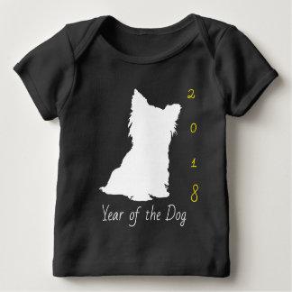 Camiseta De Bebé Bebé negro chino T del Año Nuevo 2018 del perro