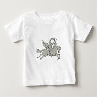 Camiseta De Bebé Bellerophon que monta Pegaso que sostiene el