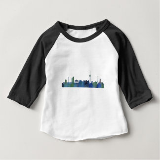 Camiseta De Bebé Berlin city Germany Skyline art watercolor