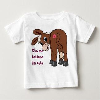 Camiseta De Bebé Béseme porque soy lindo