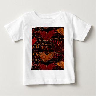 Camiseta De Bebé Béseme rojo de Miss Me