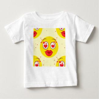 Camiseta De Bebé Beso Emoji de la tarjeta del día de San Valentín