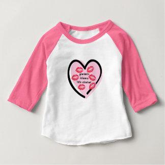 Camiseta De Bebé Besos de la tarjeta del día de San Valentín de la