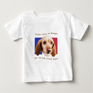 Camiseta De Bebé Besos del francés de Griffon Fauve de Bretaña Give