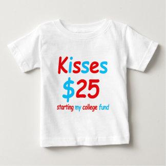 Camiseta De Bebé besos que comienzan mi fondo de la universidad
