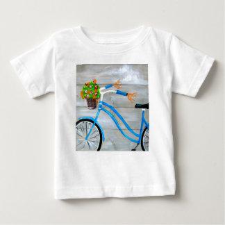 Camiseta De Bebé Bici azul Zazzle