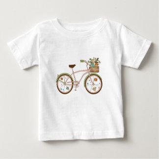 Camiseta De Bebé Bicicleta retra con karzinkoy para las flores