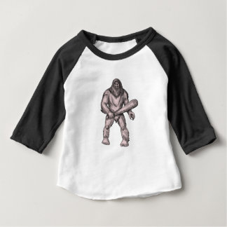 Camiseta De Bebé Bigfoot que celebra el tatuaje derecho del club