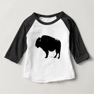 Camiseta De Bebé Bisonte negro y blanco del búfalo del arte pop