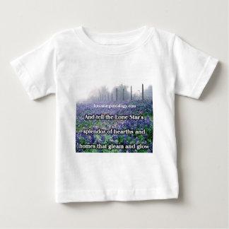 Camiseta De Bebé Bluebonnet solitario del poema de la genealogía de