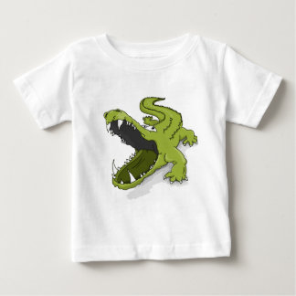 Camiseta De Bebé Boca verde del cocodrilo del cocodrilo del dibujo