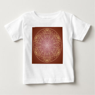 Camiseta De Bebé Bola de cristal del gato del león de la mandala