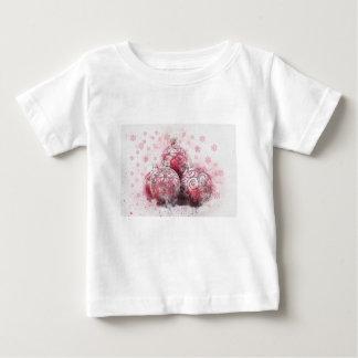 Camiseta De Bebé Bolas abstractas del rojo de la decoración del