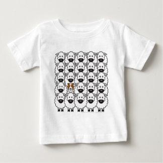 Camiseta De Bebé Border collie en las ovejas