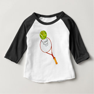 Camiseta De Bebé Bosquejo de la pelota de tenis