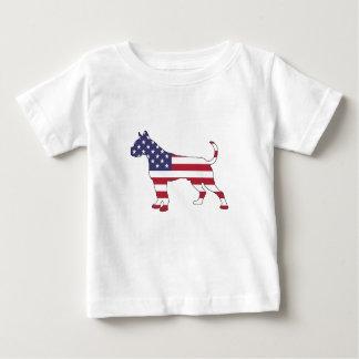 "Camiseta De Bebé Boxeador ""bandera americana """