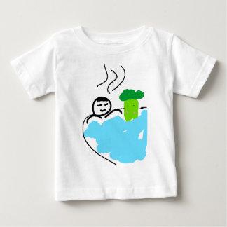Camiseta De Bebé Bróculi lindo en aguas termales