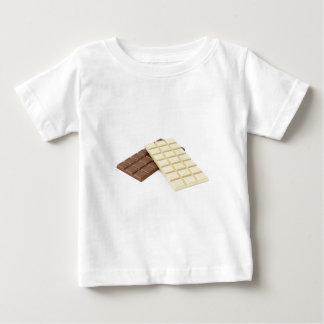 Camiseta De Bebé Brown y barras de chocolate blancas