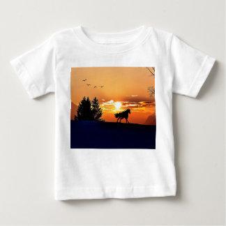 Camiseta De Bebé caballo corriente - caballo de la puesta del sol -